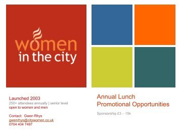 Annual Lunch Promotional Opportunities