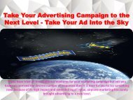 Take Your Advertising Campaign to the Next Level - Take Your Ad Into the Sky