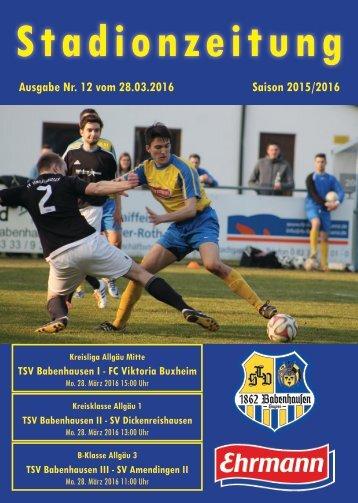 20160328 12 Stadionzeitung TSV Babenhausen - FC Viktoria Buxheim