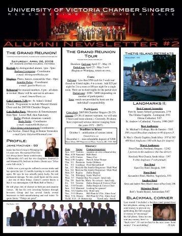 Alumni Newsletter #2 - Fine Arts - University of Victoria