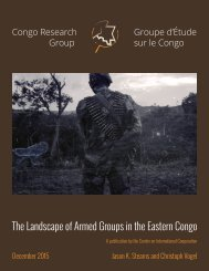 The Landscape of Armed Groups in the Eastern Congo