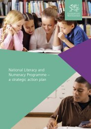 National Literacy and Numeracy Programme – a strategic action plan