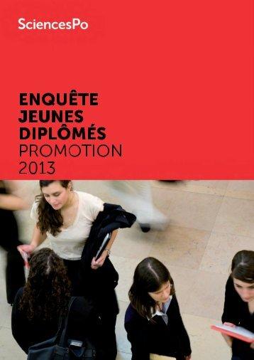 ENQUÊTE JEUNES DIPLÔMÉS PROMOTION 2013