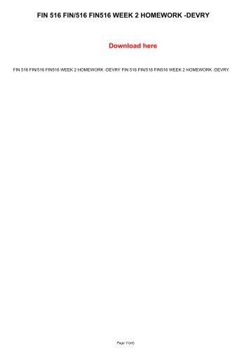 Fin 516 Week 2 Homework Assignment - image 2
