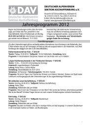 Jahresprogramm 2012 - Alpenverein-Aschaffenburg.de
