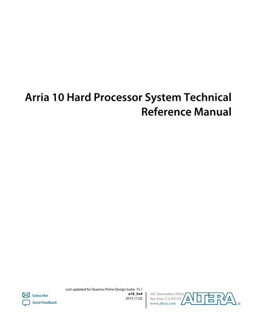 Arria 10 Hard Processor System Technical Reference Manual