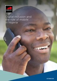 Digital inclusion and the role of mobile in Nigeria