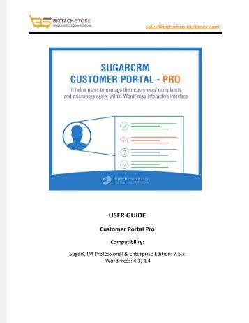 SugarCRM Customer Portal Pro Plugin