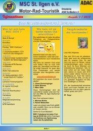 Newsletter 1-2015