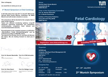 Flyer Fetal Cardiology July 2016
