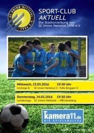 Sport Club Aktuell - Ausgabe 24 - 24.03.2016 - VFL Homberg