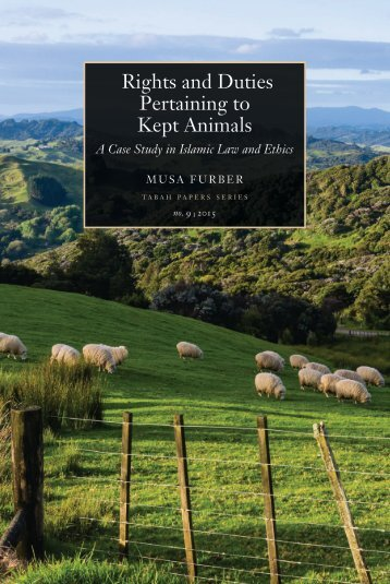 Rights and Duties Pertaining to Kept Animals