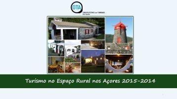 Turismo Espaço Rural Anual 2014 2015