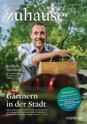 "Vonovia Kundenmagazin ""zuhause"" Frühjahr 2016"