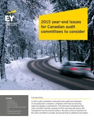 2015 year-end issues for Canadian audit committees to consider