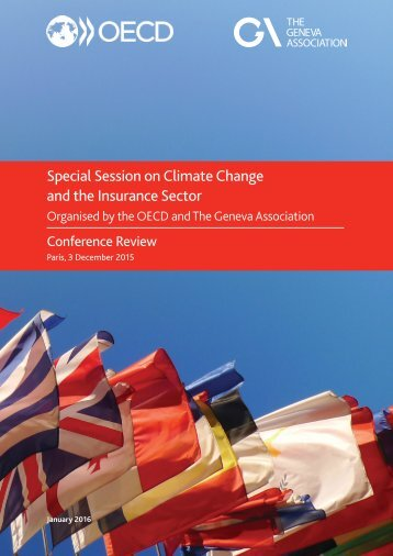 Special Session on Climate Change and the Insurance Sector