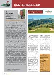 Editorial / Neue Mitglieder im BVGA - Bundesverband Golfanlagen eV