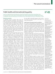 The Lancet Commissions Public health and international drug policy