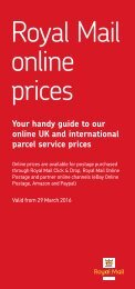 Royal Mail online prices