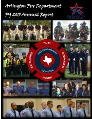Arlington Fire Department FY 2015 Annual Report