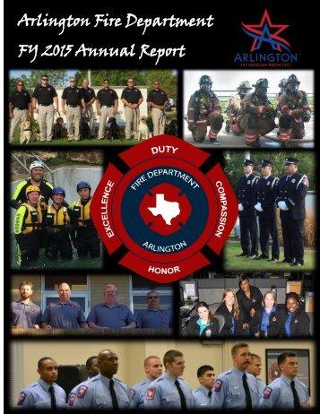 Arlington Fire Department FY 2015 Annual Report