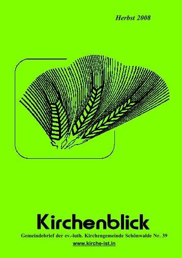 Kirchenblick - September 2008 als pdf-File - Kirche-ist.in