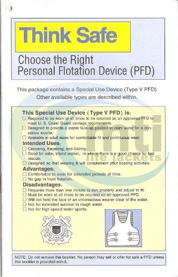 Think Safe Booklet - Type V