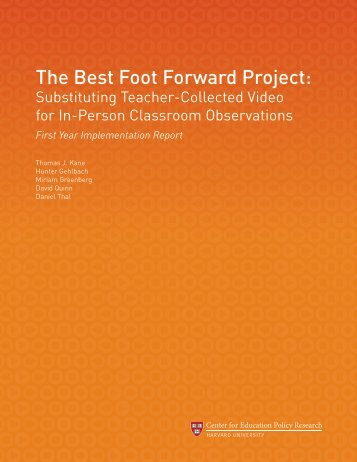 The Best Foot Forward Project