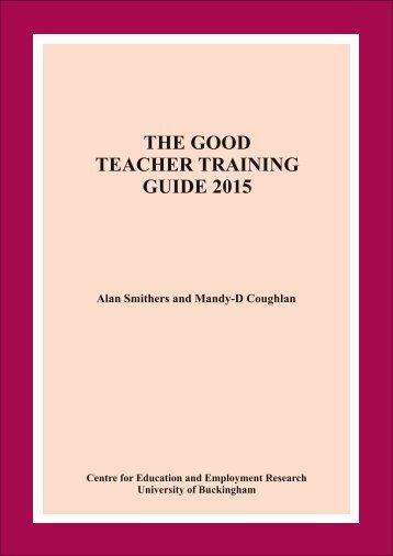 THE GOOD TEACHER TRAINING GUIDE 2015