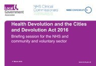 Health Devolution and the Cities and Devolution Act 2016