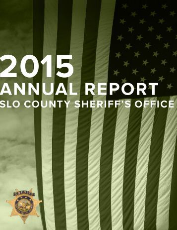 SLO County Sheriff's Office Annual Report 2015