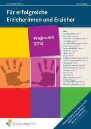 Für erfolgreiche Erzieherinnen und Erzieher - Bildungsverlag EINS