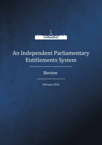An Independent Parliamentary Entitlements System