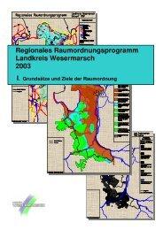 Regionales Raumordnungsprogramm - Landkreis Wesermarsch
