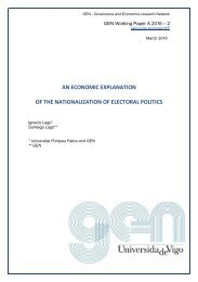 AN ECONOMIC EXPLANATION OF THE NATIONALIZATION OF ELECTORAL POLITICS