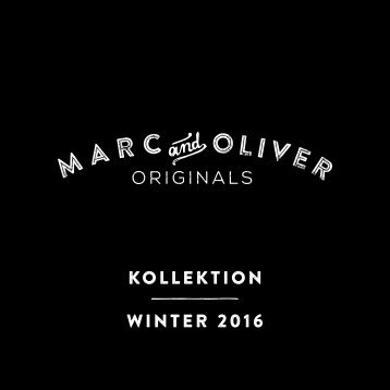 MARC & OLIVER SALES BOOK HW 2015 Lookbook