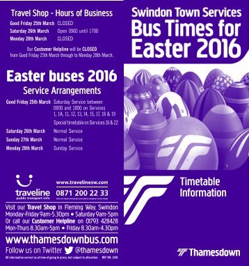 Easter buses 2016