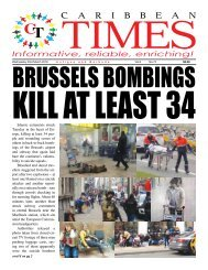 Caribbean Times 75th issue - Wednesday 23rd March 2016