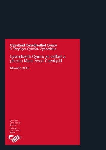 Lywodraeth Cymru yn caffael a phrynu Maes Awyr Caerdydd