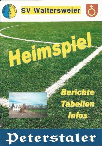Heimspiel: SV Waltersweier e.V. 15. Spieltag 2016