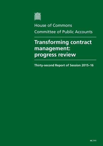 Transforming contract management progress review