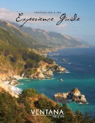 Experience Guide - Ventana Inn & Spa