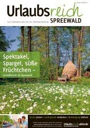 Ferienmagazin Urlaubsreich Spreewald,  Ausgabe Frühjahr und Sommer 2016