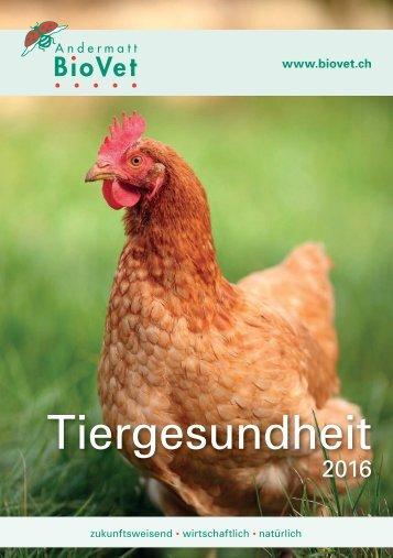 Tiergesundheits Broschüre 2016