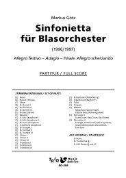 Sinfonietta für Blasorchester - Demopartitur (BO-058)