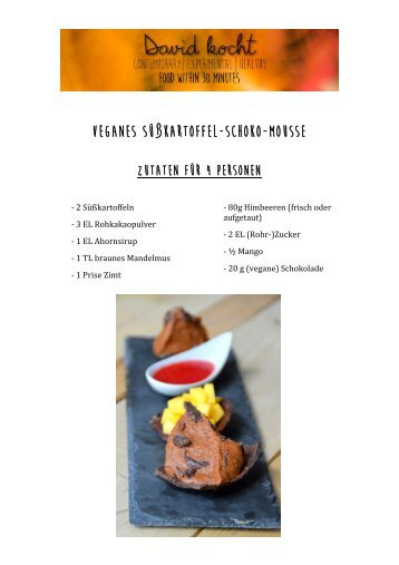 Süßkartoffel-Schoko-Mousse