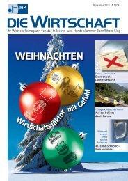 IHK Die Wirtschaft November 2012 - IHK Bonn/Rhein-Sieg