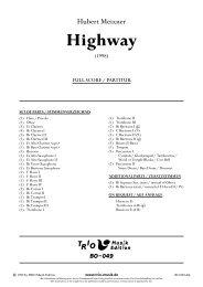 Highway - Demopartitur (BO-049)