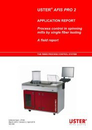 AFIS PRO 2 APPLICATION REPORT Process ... - Uster Technologies