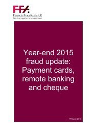 Year-end 2015 fraud update Payment cards remote banking and cheque